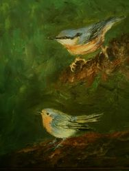 Nuthatcher & Robin